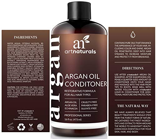 ArtNaturals Argan Oil Hair Conditioner  16 Fl Oz  473ml  Sulfate Free  Treatment for Damaged and Dry