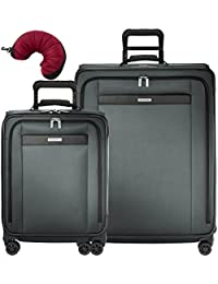 Transcend 3 Piece Spinner Set | Wide Carry-On Expandable Spinner| Large Expandable Spinner | Travel Pillow