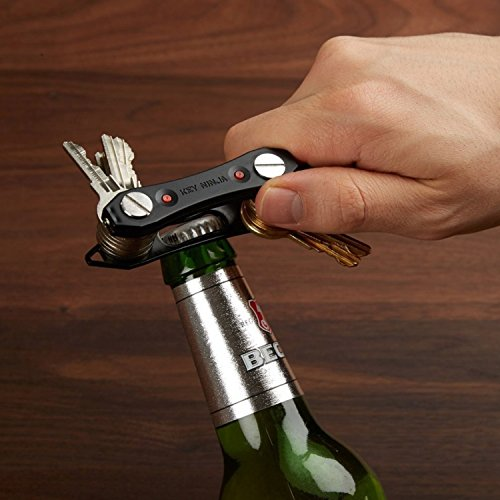Monichamp Compact Key Organizer and Holder with LED Flash Light at both ends and Bottle Opener , Key Ninja (Up to 30 Keys, Black) Shenzhen Technology Ltd.