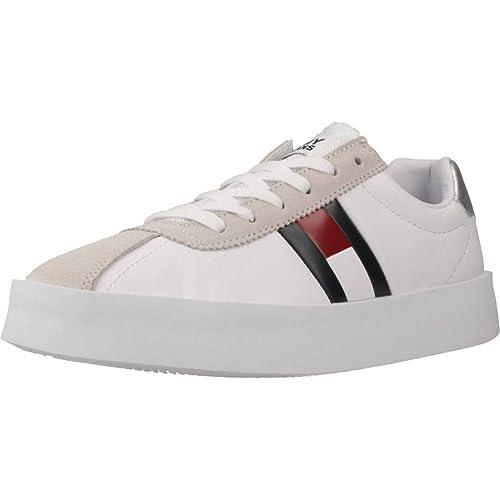 Calzado Deportivo para Mujer, Color Blanco, Marca TOMMY HILFIGER, Modelo Calzado Deportivo para Mujer TOMMY HILFIGER Retro Light Blanco: Amazon.es: Zapatos ...