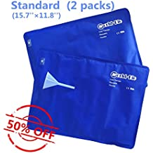 Ice Pack Cooling Water Cushion Seat Non-toxic Reusable for Chair Seat Sofa Mat Pet Cooler Pad - (40cm x 30cm), Set of 2