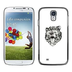 SKCASE Center / Funda Carcasa - Modelo tribal de tinta blanca Arte;;;;;;;; - Samsung Galaxy S4