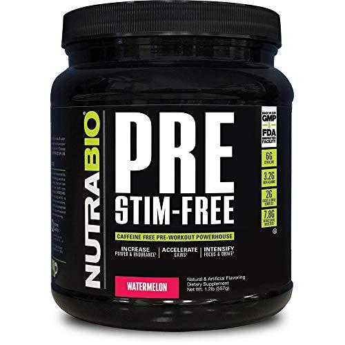 NutraBio PRE Stim Free Watermelon by NutraBio