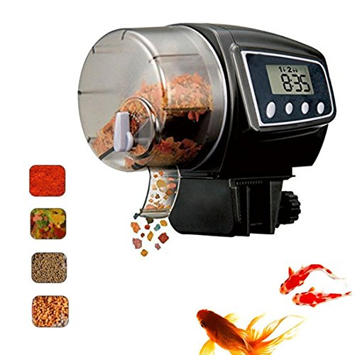 Fish Feeder, Automatic Fish Feeder, eBoTrade Aquarium Tank Auto Fish Food Timer Batteries Included (900EB)
