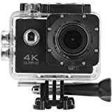 Acouto Waterproof Action Camera 16MP 4K 2 Inch Screen Sport Camera,170 Degree Wide Angle Removable Battery,Bicycle bracket and More Accessories kits (black)
