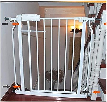 Puerta de seguridad Valla Puerta del bebé Pasillo Puerta for mascotas Door Bar Puerta de jardín juego cerca del perro de interior anti-perro Barandilla Aislamiento Valla Barandilla perro jaula de segu: Amazon.es: