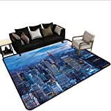 New York,Kitchen Mat 80'x 96' Sunset in NYC Photo Rugs for Sale