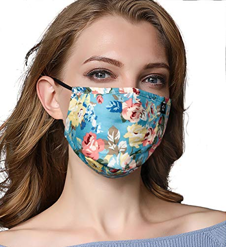 (Washeable Reusable Mouth Mask Cotton Anti Dust Half Face Mouth Mask for Men Women Dustproof With Adjustable Ear Loops)