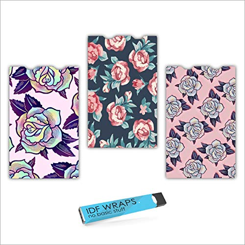 JUUL Skin Wrap Case Covers [ with Charger Port Spacing ] (Floral 1)