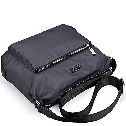 Travel Padieoe Women Shoulder Black Portable And Vintage 3 Inclined Shoulder Men Bag Students Retro Multifunction Bag Bag Messenger nb160749 Black Leisure Canvas ggr7nxwq