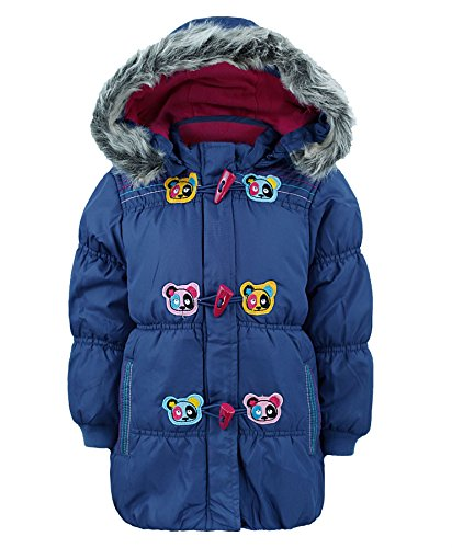 Girls Jacket With Panda Design in Blue 3-4 Years