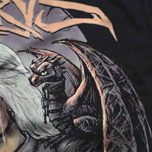 style3 Madre dei Draghi T-Shirt da Uomo Trono Stark Daenerys di Targaryen Spade