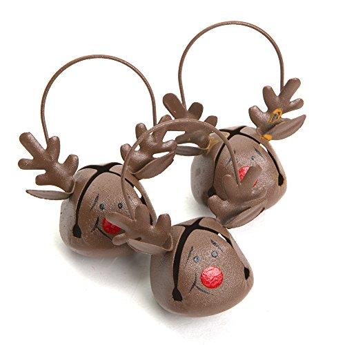 Reindeer Jingle Bell Ornaments 12 Pack