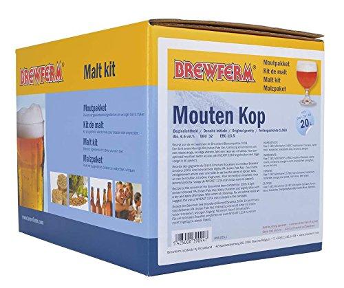 Fertige Malzmischung zum Brauen von 20 Liter MOUTEN KOP - India Pale Ale - Malzpaket zum Bier brauen - ungeschrotet Brewferm
