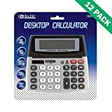 Solar Calculator, Case Of 12 Dual Powered Office Calculators Desktop 12-digit