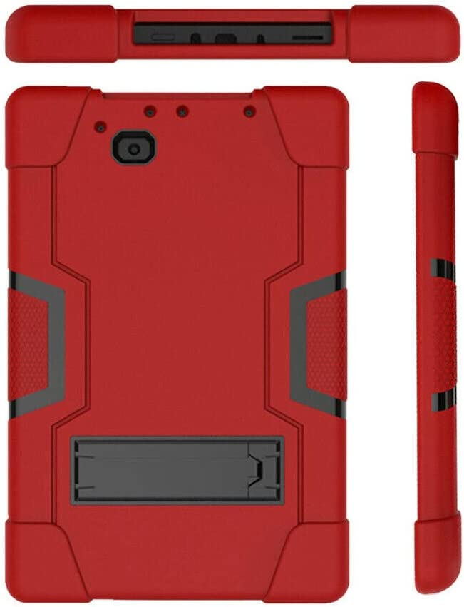 herrry for RCA 10 Viking Pro 10.1 Inch Case,Heavy Duty Shockproof Rugged Impact Resistant Hybrid Three Layer Full Body Protective Case Cover for RCA 10 Viking Pro 10.1 Inch (Red/Black)