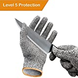 professional butcher knives - Cut Resistant Gloves / Cut Gloves - Cutting Gloves for Pumpkin Carving, Wood Carving, Meat Cutting and Oyster Shucking - Cut Proof Gloves with Level 5 Protection (Small, Medium, Large, Extra Large)