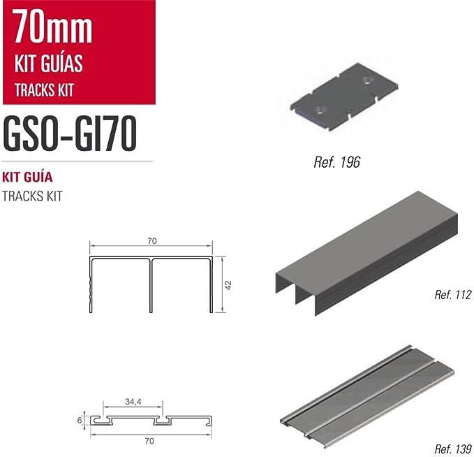 Kit de Guias para armario Adinor GSO-GI70 MELAMINA ROBLE RO 444 2 mts.: Amazon.es: Bricolaje y herramientas