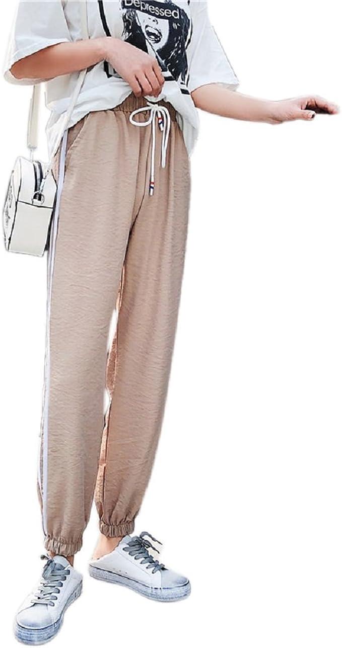 Pantaloni Donna Comodi Pantalone Largo a Vita Alta con Coulisse Yoga Pilates Casuale Wudodo Jogger