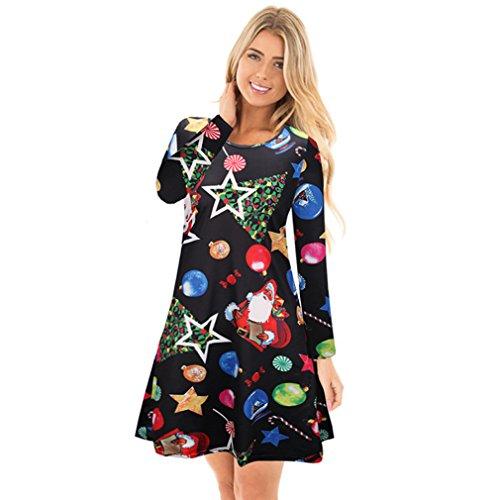 Kidslove Kleid damen elegant Weihnachten kleid damen Partykleid ...