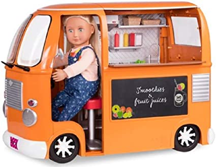 """American Our Generation Sweet Stop Set Play Food 4 Ice Cream Truck 18/"""" Girl Doll"""