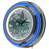 Trademark Gameroom United States Army This We'll Defend Chrome Double Ring Neon Clock, 14''