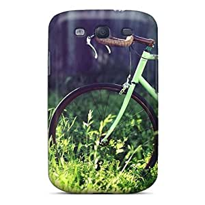 Galaxy S3 GZfQYOO1593wyevl Bicycle On The Grass Tpu Silicone Gel Case Cover. Fits Galaxy S3