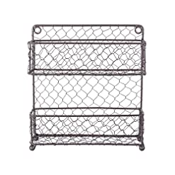 Kitchen DII Farmhouse Vintage Decorative Metal Pantry Organizer, 9.45Lx2.3Wx10H, 2 Tier Spice Rack-Rustic spice racks
