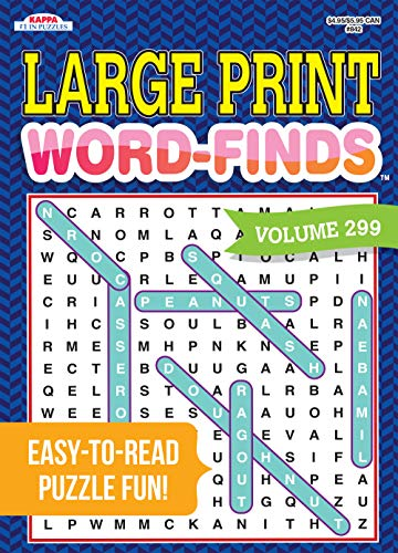 Large Print Word-Finds Puzzle Book-Word Search Volume 299 Paperback – February 24, 2020