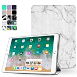 TNP iPad Pro 10.5 Case - Ultra Slim Lightweight Smart Shell Folio Cover Case with Multi-angle Stand, Smart Auto Wake / Sleep for Apple iPad Pro 10.5 2017 Tablet (Marble White)