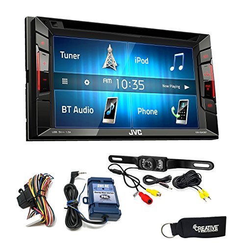 JVC KW-V240BT BT/DVD/CD/USB Receiver with 6.2-inch Screen - Includes Backup Camera & Steering Wheel Control Interface ()
