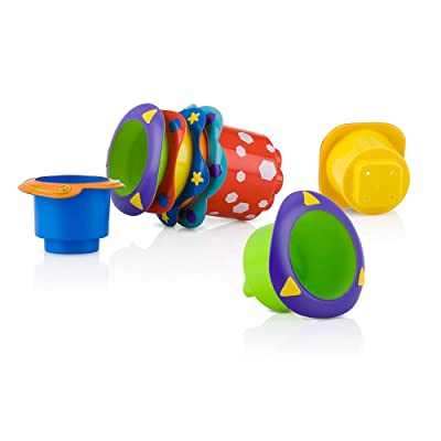 Nuby 5-Piece Splish Splash Bath Time Stacking Cups : Bath Toys : Baby