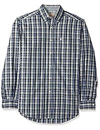 ARIAT - Camiseta de manga larga sin arrugas para hombre