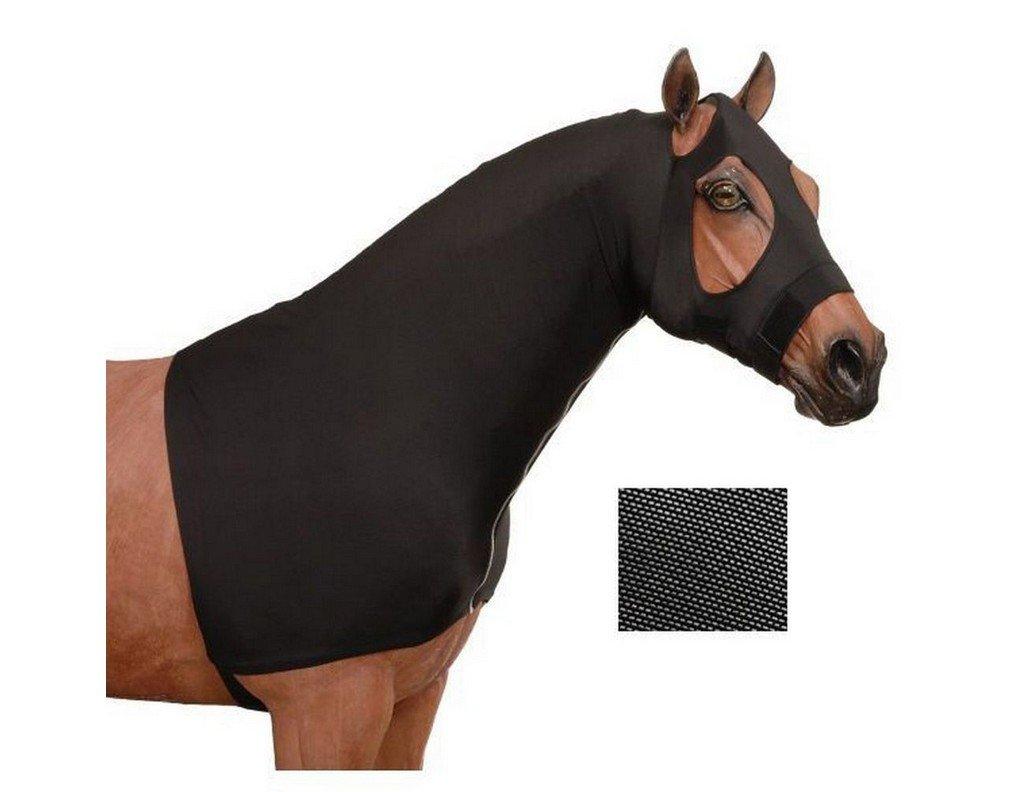 Tough 1 Neck Cover Mesh Lycra Mane Stay Hood Zip M Black 65-9500