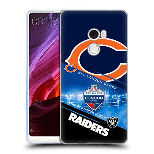 Official NFL Bears VS. Raiders 2019 London Games Soft Gel Case Compatible for Xiaomi Mi Mix 2