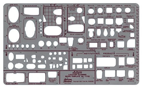 Pickett Lavatory Planning Template Scale product image