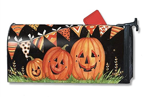 MailWraps Party Time Pumpkins MailWrap Mailbox Cover 00141