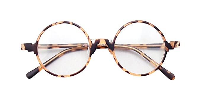 7c0ca7b394 Image Unavailable. Image not available for. Colour  Vintage Retro Round  Amber Leopard Tortoise Shell Eyeglass Frames Spectacles RX
