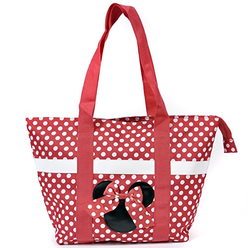 Disney Mickey and Minnie Mouse Icon Polka Dot Travel Beach Tote - Disney World Stores