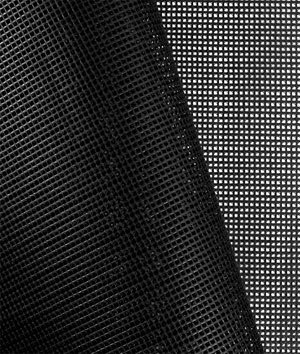 Black 9x9 Vinyl Coated Mesh Fabric - by the Yard