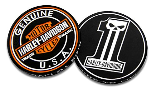 Harley-Davidson Long Tooth #1 Skull Challenge Coin, 1.75 in Coin, Black 8005023 ()