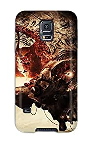 2015 7662884K34154510 Premium Durable Skull Fashion Tpu Galaxy S5 Protective Case Cover