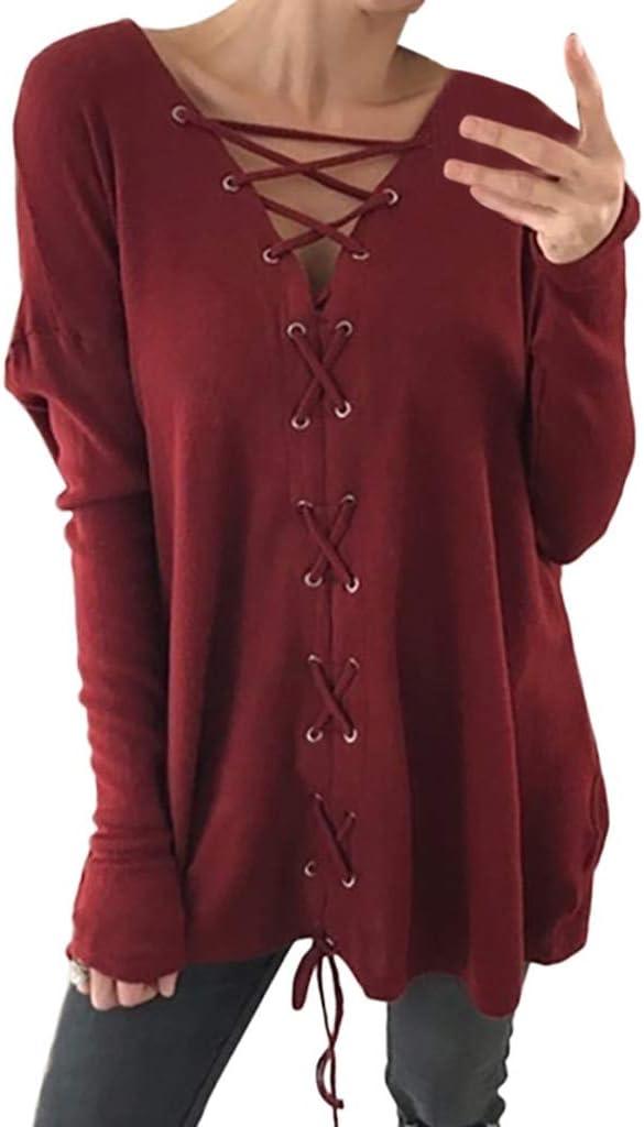 ZODOF Camiseta Blusa de Manga Larga con Cuello Redondo para Mujer Blusas de Fiesta Camisetas Mujer Originales Tops Fiesta Blusa: Amazon.es: Ropa y accesorios