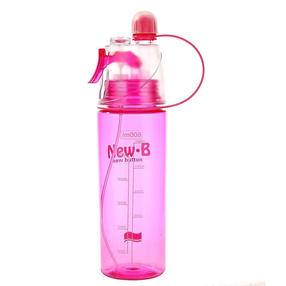 Wiixiong 600ml Portable Spray Sports Water Bottle Outdoor Cooling Drinking Cups