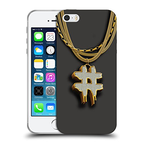 Official Been Trill Hashtag Gold Bling Blings Soft Gel Case for Apple iPhone 5 / 5s / SE