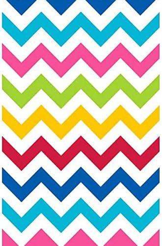 Bright Multicolored Chevron Table Cover Amscan 571383