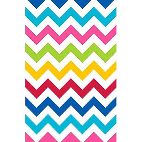 Bright Multicolored Chevron Table Cover]()