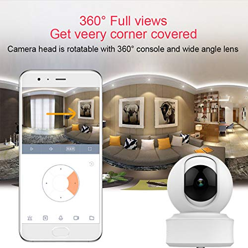 ️ Yu2d ❤️❤️ ️HD 1080P WiFi Security IP Camera Wireless Camera Baby Monitor 360Degree Rotation ()
