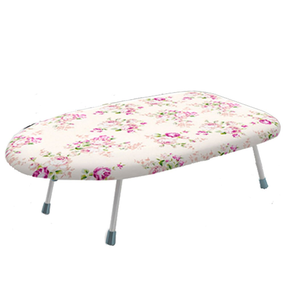Cestlafit Mini Tabletop Ironing Board with Folding Legs,Folding Ironing Board with Cotton Cover,Flower