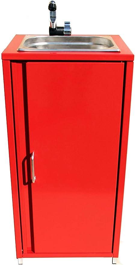 Zubehör Mobiler Spülbecken Waschbecken Spüle Handwaschbecken Rot inkl